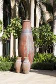 Vasos antigos, marrons, cerâmicos — Fotografia Stock