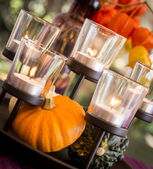 Elegant autumn fall table decoration — Stock Photo