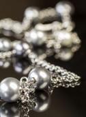 Glossy silver jewewllery chain — Stock Photo