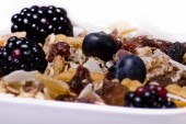 Cereals and berries — Stock Photo