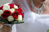 Bride and bouquet — Stock Photo