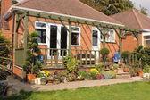 Beautiful english garden — Stock Photo