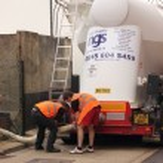 A bulk salt delivery — Stock Photo #53070197
