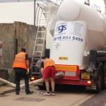 A bulk salt delivery — Stock Photo #53070225