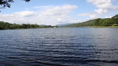 Esthwaite Water Lake District Cumbria near Hawkshead village and between Windermere and Coniston Water — Stock Video