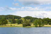 Esthwaite Water Lake District Cumbria near Hawkshead village and between Windermere and Coniston Water — Stock Photo