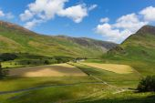 Mountains next to Buttermere Lake District Cumbria England uk — Stock Photo
