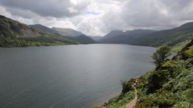 Ennerdale Water Lake District National Park Cumbria England uk surrounded by mountains or fells — Stock Video