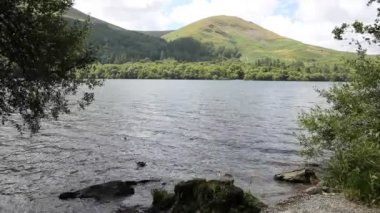 Loweswater and mountains Lake District Cumbria England UK not far from Cockermouth, — Stock Video