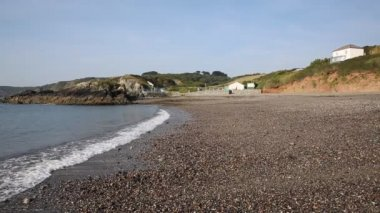 Kennack Sands beach Cornwall the Lizard Heritage coast South West England on a sunny summer day — Stock Video