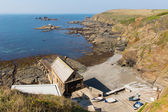 Disused RNLI Lifeboat station The Lizard peninsula Cornwall England UK south of Helston in summer on calm blue sea sky day — Stock Photo