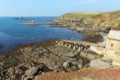The Lizard peninsula Cornwall England UK south of Helston in summer on calm blue sea sky day — Stock Photo