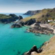 Kynance Cove The Lizard Cornwall England UK on a beautiful sunny summer day with blue sky and sea — Stock Photo #54112977