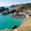 Kynance Cove The Lizard Cornwall England UK on a beautiful sunny summer day with blue sky and sea — Stock Photo #54113473
