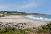 Coverack beach Cornwall England UK coastal fishing village on the Lizard Heritage coast South West England on a sunny summer day — Stock Photo