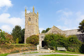 Church of St Mawgan in Meneage Cornwall England located on The Lizard peninsula south of Helston — Стоковое фото
