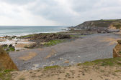 Gunwalloe Cornwall England UK on the Lizard Peninsula south of Helston and between Porthleven and Mullion overcast dull day — Stock Photo