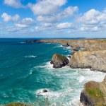 Bedruthan Steps North Cornwall England UK Cornish coast near Newquay — Stock Photo #57635287