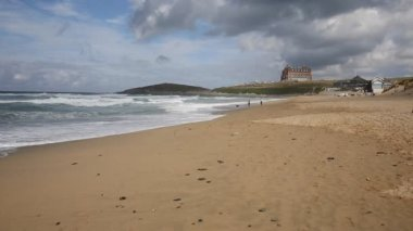 Fistral beach Newquay North Cornwall England UK — Stock Video