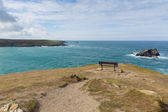 View from headland at Pentire Newquay Cornwall England UK by Crantock Bay — Stock Photo