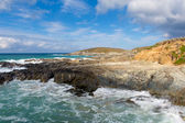 Newquay coast Cornwall England UK at Little Fistral and Nun Cove — Stock Photo
