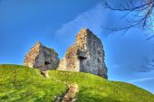 Christchurch castle ruins Dorset England UK of Norman origin and originally motte and bailey construction — Stock Photo