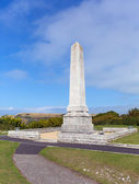 Portland Cenotaph war memorial Isle of Portland Dorset, England uk overlooking Chesil Beach dedicated to local soldiers who died during both Wars — Stock Photo
