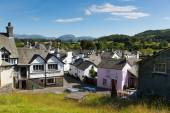 Hawkshead village the Lake District England uk on a beautiful sunny summer day popular tourist village — Stock Photo