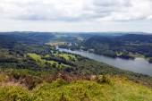 Elevated view of Windermere Lake District England uk from Gummers How in summer — Stock Photo