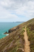 South West Coast Path south of Perranporth North Cornwall England UK — Stock Photo