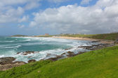 View of Fistral beach Newquay North Cornwall spring popular in the UK — Stock Photo