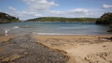 View from South Sands beach Salcombe Devon south west England UK — Stock Video