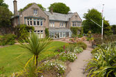 Overbecks Edwardian house museum and gardens in Salcombe Devon England UK a tourist attraction — Stock Photo