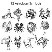 Astrology symbols — Vetorial Stock