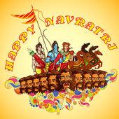Lord Rama,Laxmana and Sita with Ravana in Happy Dussehra — Stock Vector