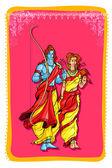 Lord Rama and Sita — Stock Vector