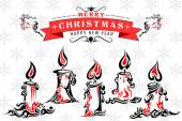 Tattoo Style Holy Christmas Candle — Stockvektor