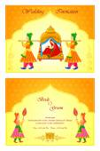 Indian wedding invitation card — Stock Vector