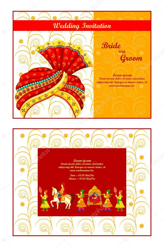 Indian wedding invitation card Vector stockshoppe 61544263 – Wedding Invite Card Stock