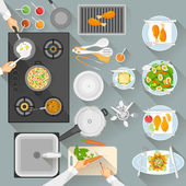 Working table of chef — Stock Vector