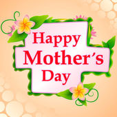 Happy Mothers Day celebration background — Stock Vector