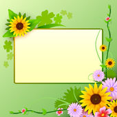 Floral background with blank space — Stock Vector
