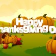 Happy Thanksgiving wallpaper background — Stock Vector #74658415