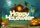 Happy Halloween wallpaper background — Stock vektor