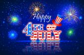 4th of July wallpaper background — Stock Vector