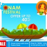 Happy Onam big sale — Stock Vector #80355860