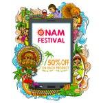 Happy Onam big sale — Stock Vector #80355904