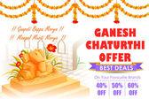 Mutlu Ganesh Chaturthi satış teklifi — Stok Vektör
