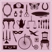 Design Elements Vintage Objects and Icons Set 2 — Stock Vector
