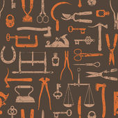 Vintage Tools And Instruments seamless pattern 2 — Stock Vector